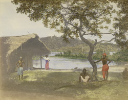 Lake scenery, Ceylon.